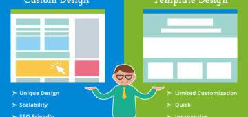 template based website vs custom